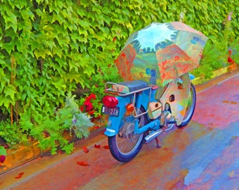Photography  color  France Monet, motorcycle photos, Fine art photography, home decor, Wall Art, colorful,
