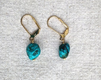 TURQUOISE. Drop Earrings.
