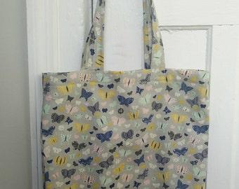 Tote Bag, Market Bag, Reusable Market Bag, Eco Friendly Bag, Butterfly Bag