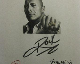 Ballers Signed TV Script Screenplay X4 Autograph The Rock Dwayne Johnson Rob Corddry Omar Benson Miller Troy Garity signature football HBO