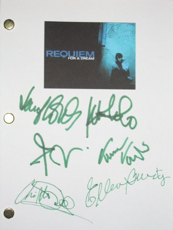 Requiem for a Dream Signed Movie Film Script Screenplay X6 Autographs Jared Leto Jennifer Connelly Marlon Wayans Christopher McDonald