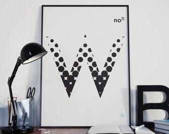 "Alphadots ""W"""