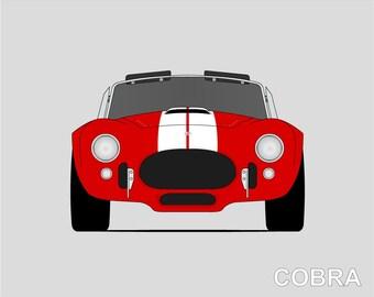 Shelby Cobra 427 Poster // AC Cobra Print // Cobra Roadster // CSX