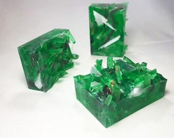 Emerald Crystal Cluster Soap Bar -Taurus Birthstone