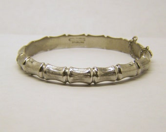 English sterling silver bamboo bracelet