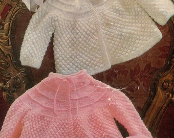 Baby Coat And Bonnet Knitting Pattern. PDF Instant Download.