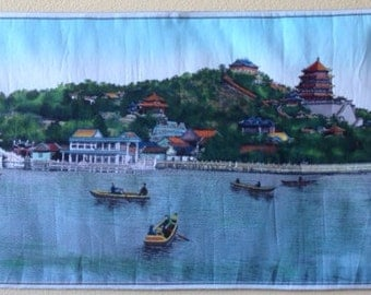 Tapestry of the Summer Palace in Beijing