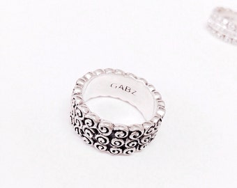 Rose three band Wedding Ring
