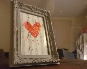 Framed Sweet Heart Collage