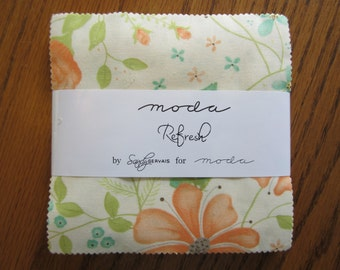 "SALE Refresh by Sandy Gervais for Moda - (42) 5"" x 5"" Charm Pack"