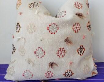 50x50cm   large kilim pillow wool white pillow cover - 210b