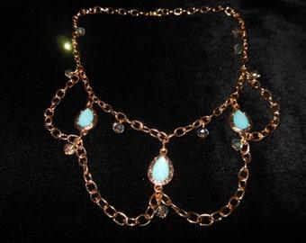 "Necklace Bracelet earrings ""Golden Jasmine"""