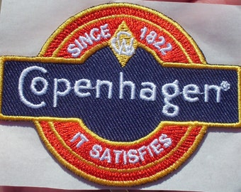 Copenhagen it satisfies since 1822 adhesive hat patch rare new