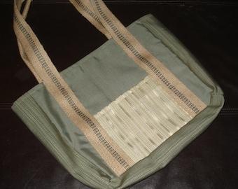 Spring Plaid Tote Bag