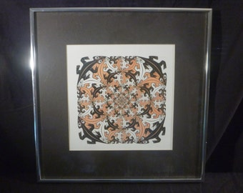 Matted and Framed MC Escher Print
