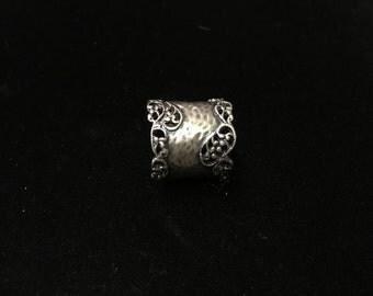 Vintage Sterling Ring, Isreal, Ornate, 925