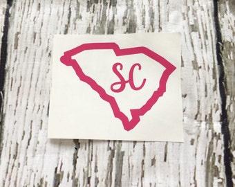 South Carolina Decal // SC Decal // South Carolina Car Decal // SC Laptop Decal
