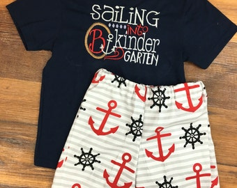 Sailing into kindergarten with initial outfit