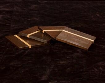 Walnut Wood Coasters (Set of 4)