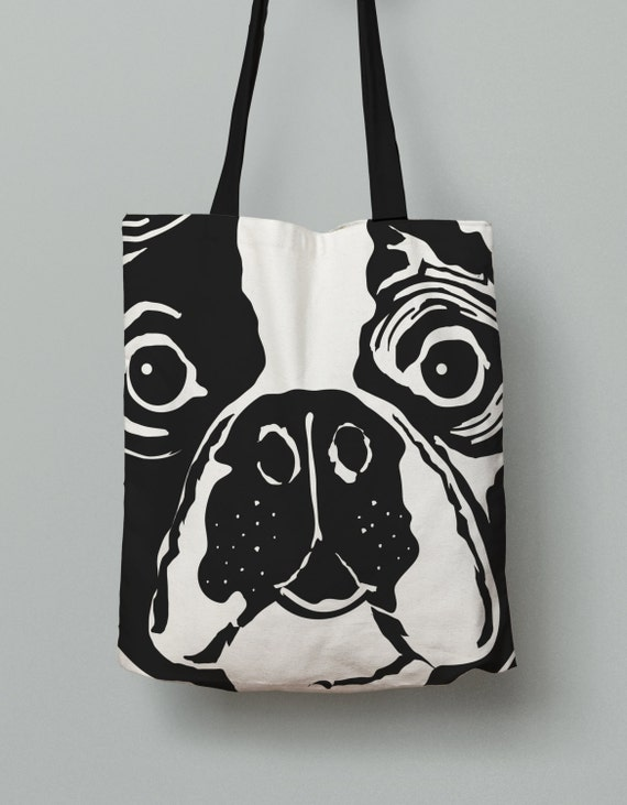french bulldog purse french bulldog tote bag black and white all over print tote 4452