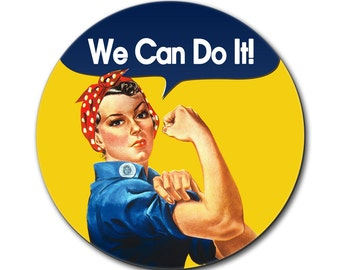 Rosie the Riveter We Can Do It Mouse Pad
