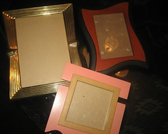 Three Assorted Picture Frames