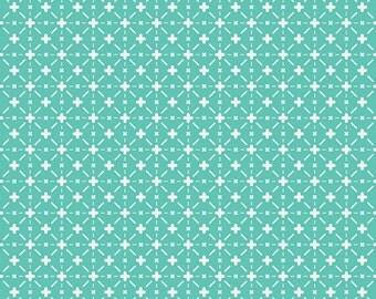 Cotton Fabric Mint Stellar Skylight Nordika NOR 7601 by Art Gallery Fabrics - Quilters Cotton - Girl Fabrics - Nursery Fabric - Star Fabric