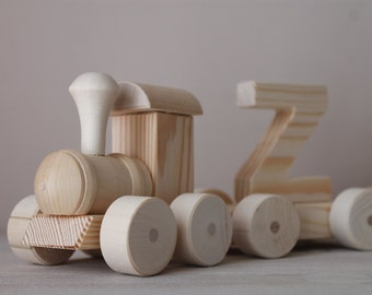 Wooden train named
