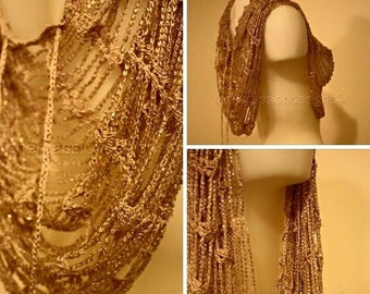 Gold sequin wrap