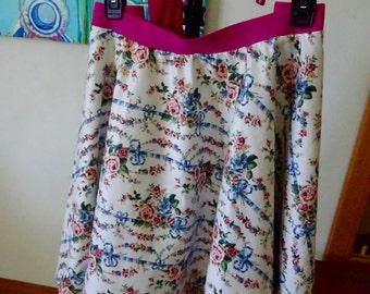 Circle Skirt #2!  White floral!