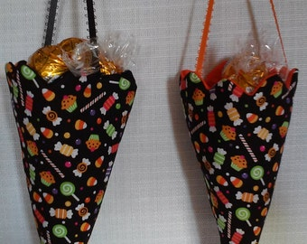 Halloween Cone Candy Holders, Set of 2