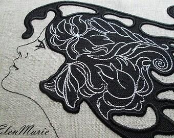 Dreams applique - Machine Embroidery Design Womens Gift