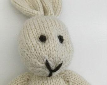 Organic Bunny - Stuffed Animal - Waldorf Bunny - Knitted Stuffed Toy