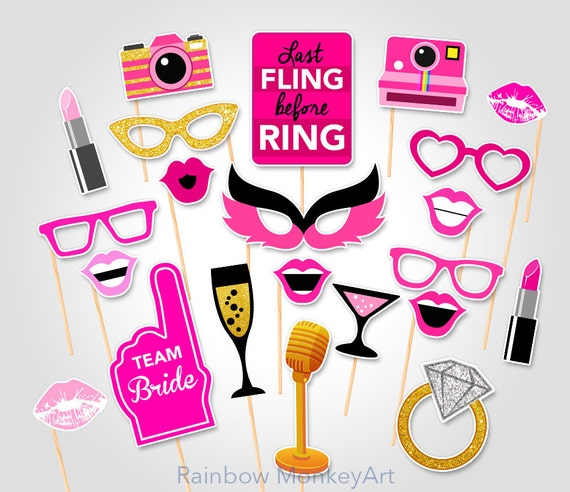 Wedding Party Printable Photo Booth Props Hen Party