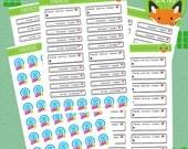 Pokemon GO Tracking Stickers Caught Pokestops Sticker Set - Planner Stickers - Planner Decorations - Kikki-K & Erin Condren Sticker Sets