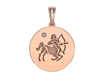 Sagittarius necklace, Zodiac Jewelry, Zodiac Necklace, Gold Necklace, Rose Gold Jewelry, white gold necklace, Solid Gold Zodiac Necklace