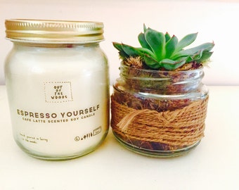 Expresso Yourself (cafe latte) Scented Soy Candle
