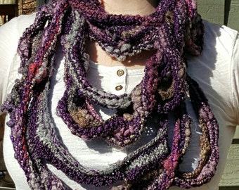 "Loopy Infinity Scarf in ""Passion for Purple"""