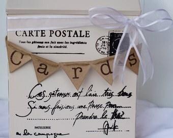 Vintage wedding car holder, wedding mailbox, card holder, wedding card box