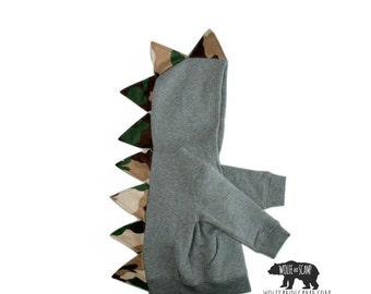 Trendy Toddler Boy Camo Dino Hoodie - Redneck Kids Hoodie, Boys Dinosaur Hoodie, Monster Hoodie, Dragon Hoodie