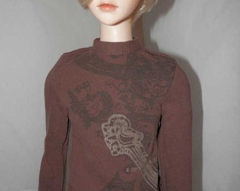 Brown Rock n Scroll T-Shirt