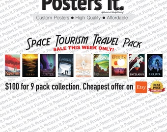 NASA 9pk Travel Poster Set.