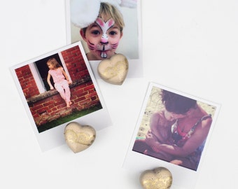Set of Concrete Heart Fridge Magnets