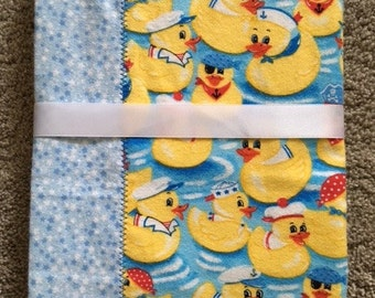 Rubber Duckie Flannel Blanket
