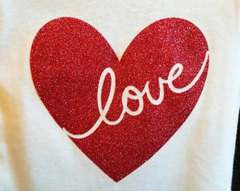 Love Heart Baby Onesie- Cute for Valentine's Day