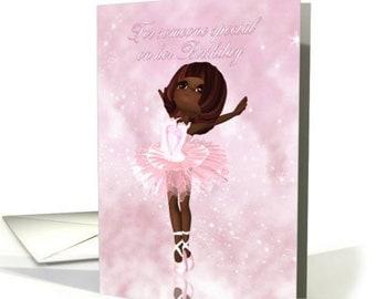 Ballet Dancer Birthday Card - Ballerina Birthday card, a choice of two, both as cute as buttons.