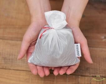 Reusable bulk food bag, reusable grocery bag, ripstop nylon, size small WHITE