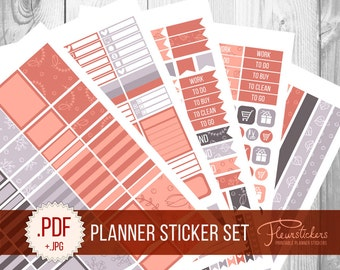 Printable Planner Sticker Set planner Stickers pack sticker Monthly sticker Planner Stickers Pack Planner stickers for use with Erin Condren