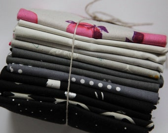 Black to Grey fat quarter bundle - Cotton + Steel + SALE