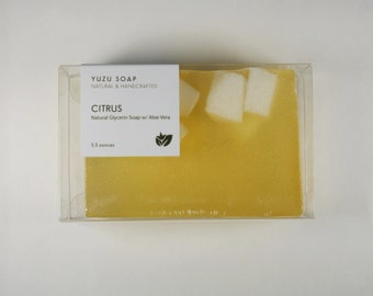 Citrus - Glycerin Soap, Glycerin Aloe Vera Soap, Natural Soap, Citrus Soap